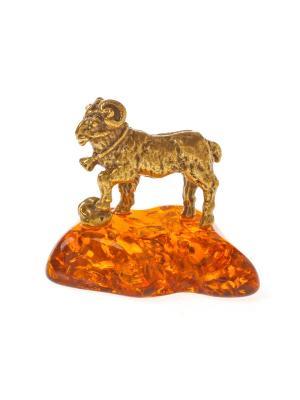 Фигура Баран с колокольчиком Aztek. Цвет: желтый, коричневый, светло-оранжевый
