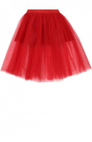 Пышная многослойная юбка Monnalisa. Цвет: красный