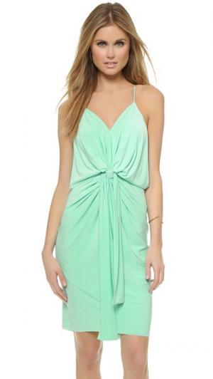Платье до колен с узлом Tbags Los Angeles. Цвет: голубой