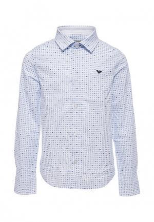 Рубашка Armani Junior. Цвет: голубой