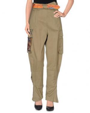 Повседневные брюки PARIS FROU. Цвет: зеленый-милитари