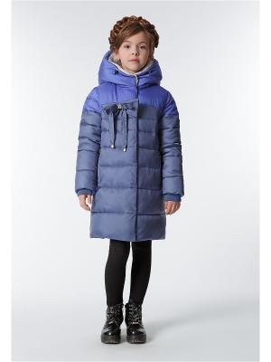Пальто D`imma. Цвет: синий