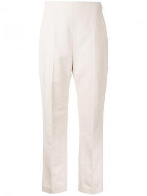 Зауженные брюки Delpozo. Цвет: коричневый