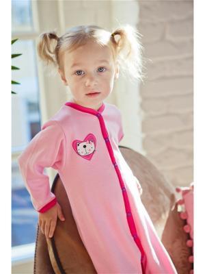 Комбинезон LOVE Lucky Child. Цвет: розовый