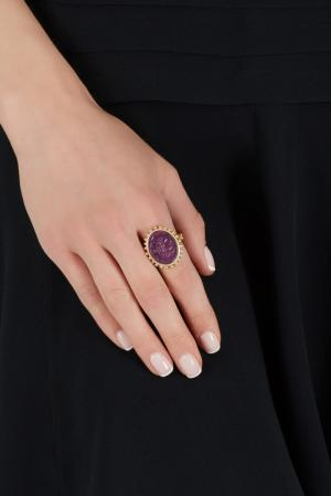 Кольцо (80-е) Anne Klein Vintage. Цвет: фиолетовый