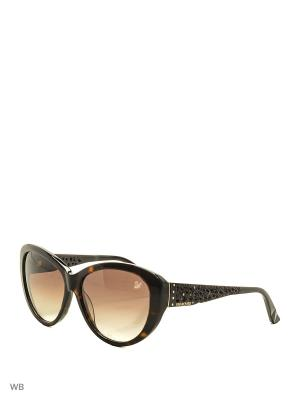 Солнцезащитные очки SK 0053 52F Swarovski. Цвет: коричневый