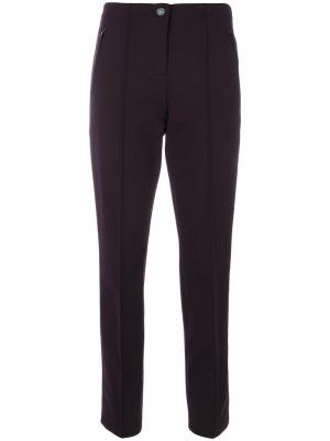 Укороченные брюки прямого кроя Cambio. Цвет: розовый и фиолетовый