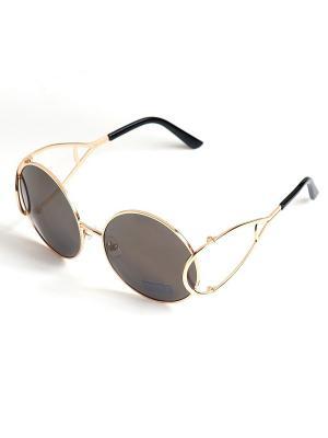 Солнцезащитные очки Selena. Цвет: серый, золотистый
