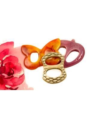 Пряжка Волшебная пуговица для шейного платка madam Пряжкина. Цвет: лиловый, молочный, светло-оранжевый
