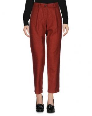 Повседневные брюки DIXIE. Цвет: кирпично-красный