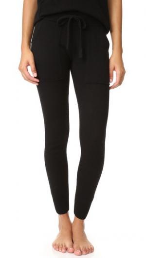 Кашемировые брюки Essential White + Warren. Цвет: серый меланжевый
