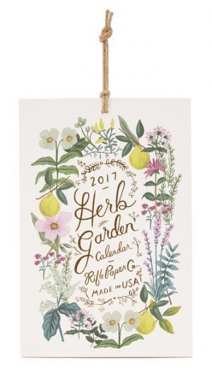 Календарь Herb Garden на 2017 г. Rifle Paper Co