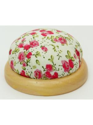Игольница-подушечка Розовые цветы Magic Home. Цвет: белый