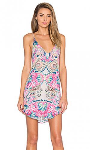 Платье bouches Rory Beca. Цвет: розовый