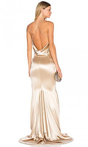 Вечернее платье barthelemy Gemeli Power. Цвет: беж