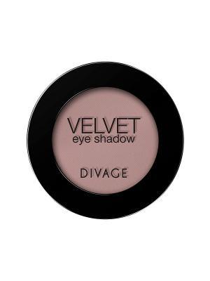 Матовые одноцветные тени для век VELVET тон 7305 DIVAGE. Цвет: лиловый