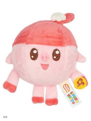 Мягкая игрушка Малышарики Нюша 15 см, озвученная. Мульти-пульти. Цвет: розовый, красный