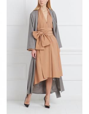 Шерстяное платье Studia Pepen. Цвет: бежевый