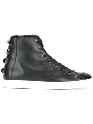 Ботинки по щиколотку Borbonese. Цвет: чёрный