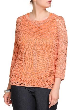 Комплект: пуловер, блуза RITA PFEFFINGER. Цвет: абрикос