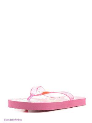 Пляжная обувь детская Mon Ami. Цвет: розовый