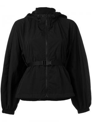Drawstring waist rain jacket Ahirain. Цвет: чёрный