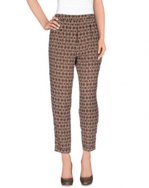 Повседневные брюки INTROPIA. Цвет: темно-коричневый
