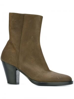 Ботинки на молнии A.F.Vandevorst. Цвет: зелёный
