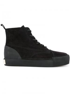Хайтопы со шнуровкой Alexander Wang. Цвет: чёрный
