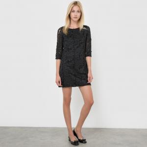 Платье с рукавами 3/4 MOLLY BRACKEN. Цвет: черный