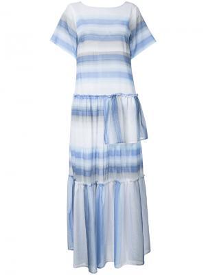 Длинное платье в полоску Lemlem. Цвет: белый