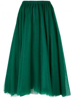Mid length draped skirt Rochas. Цвет: зелёный