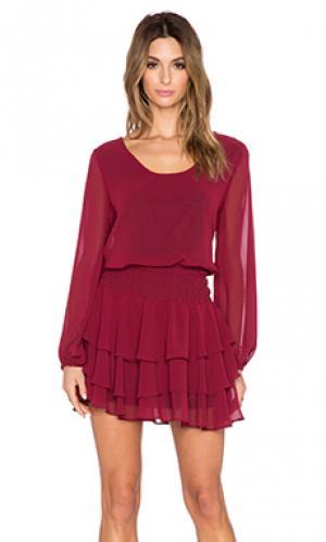 Мини-платье с длинным рукавом T-Bags LosAngeles. Цвет: красное вино