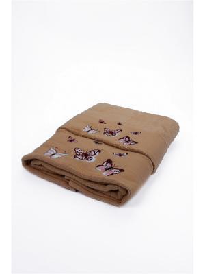 Комплект полотенец Бабочки La Pastel. Цвет: бежевый
