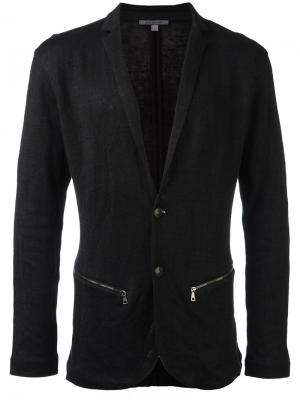 Пиджак с карманами на молнии John Varvatos. Цвет: чёрный