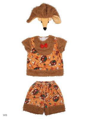 Карнавальный костюм Ёжик Коржик Батик. Цвет: коричневый