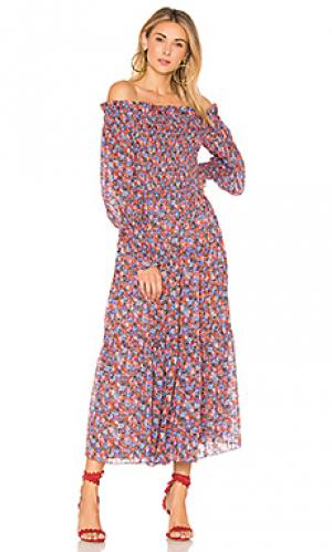Платье с открытыми плечами cosmic Rebecca Taylor. Цвет: красный