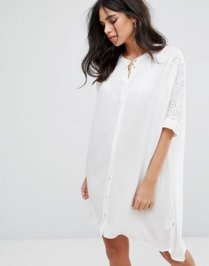 Soaked in Luxury Платье-туника Downey. Цвет: белый