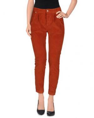 Повседневные брюки QUEEN of LOVE. Цвет: ржаво-коричневый