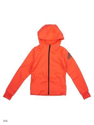 Толстовка YG AA CW ZNE FZ Adidas. Цвет: розовый, черный
