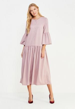 Платье Vivostyle. Цвет: розовый