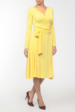 Платье джерси Von Vonni. Цвет: желтый