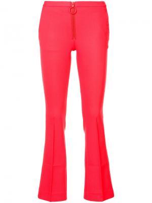 Расклешенные брюки Off-White. Цвет: красный
