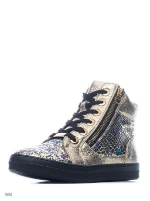 Ботинки Indigo kids. Цвет: золотистый