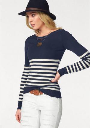 Пуловер MELROSE. Цвет: черный/молочно-белый