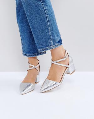 Raid Туфли на среднем каблуке с острым носком Avia. Цвет: серебряный