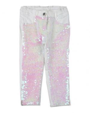 Джинсовые брюки MICROBE. Цвет: белый