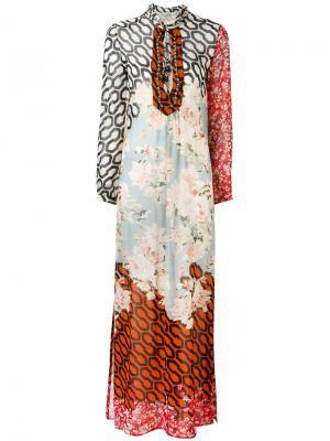 Платье с разными узорами Amen. Цвет: многоцветный