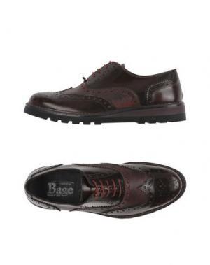 Обувь на шнурках BAGE. Цвет: баклажанный