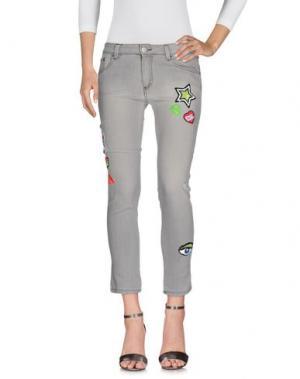Джинсовые брюки FOLLOW US. Цвет: светло-серый